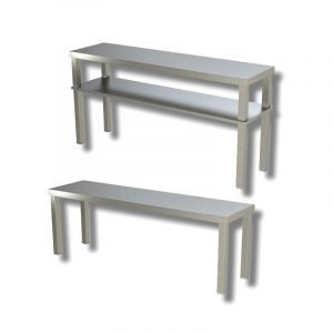 Ripiani di appoggio in Inox per tavoli